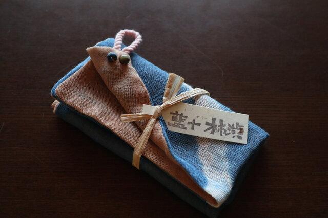 再販・手ふきん(藍+柿渋)の画像1枚目