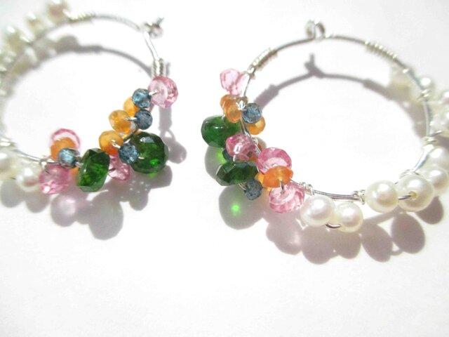 【romantic pierced earrings7】の画像1枚目