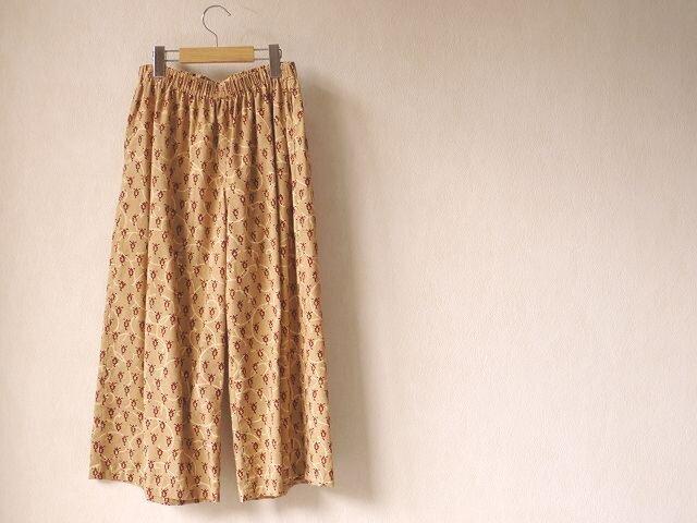ぺたぺた木版更紗のパンツの画像1枚目