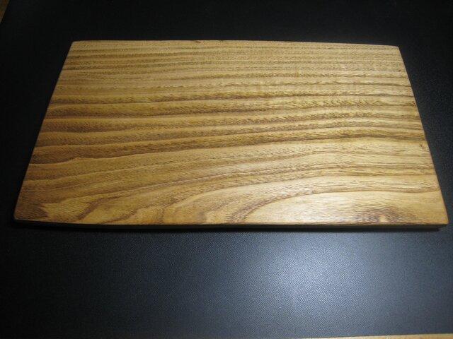 栗の木の板皿(御依頼分)の画像1枚目