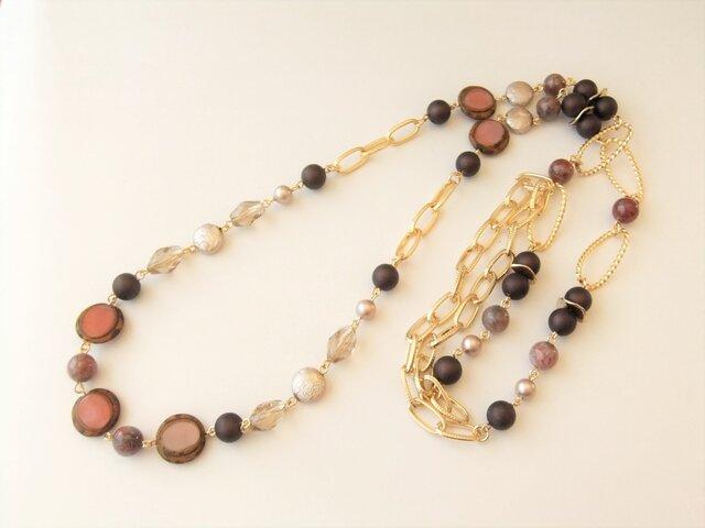 Necklace チェコガラス エクロジャイト(N1184)の画像1枚目