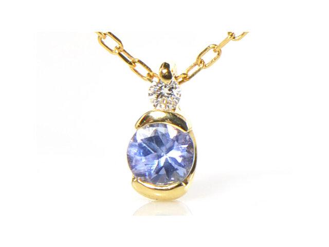 K18 タンザナイト ダイヤモンド ペンダント K18イエローゴールド YK-AN064の画像1枚目