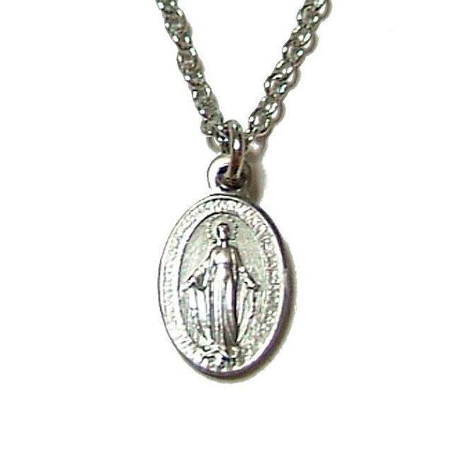 聖母マリア様ペンダントネックレスの画像1枚目