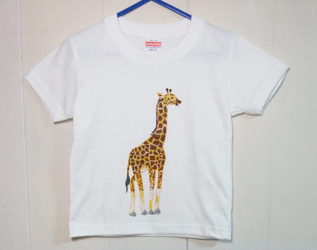 キッズTシャツ(キリン) 100㎝の画像1枚目