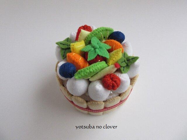SALE《直径8cm》フルーツいっぱいケーキ②の画像1枚目