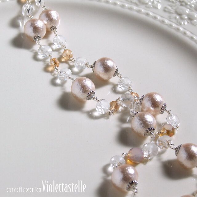 ピンクパールのネックレスの画像1枚目