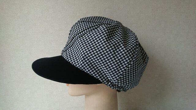 a6a21213f70d3 魅せる帽子☆ふんわり♪リバーシブルキャスケット~モノトーンの画像1枚目