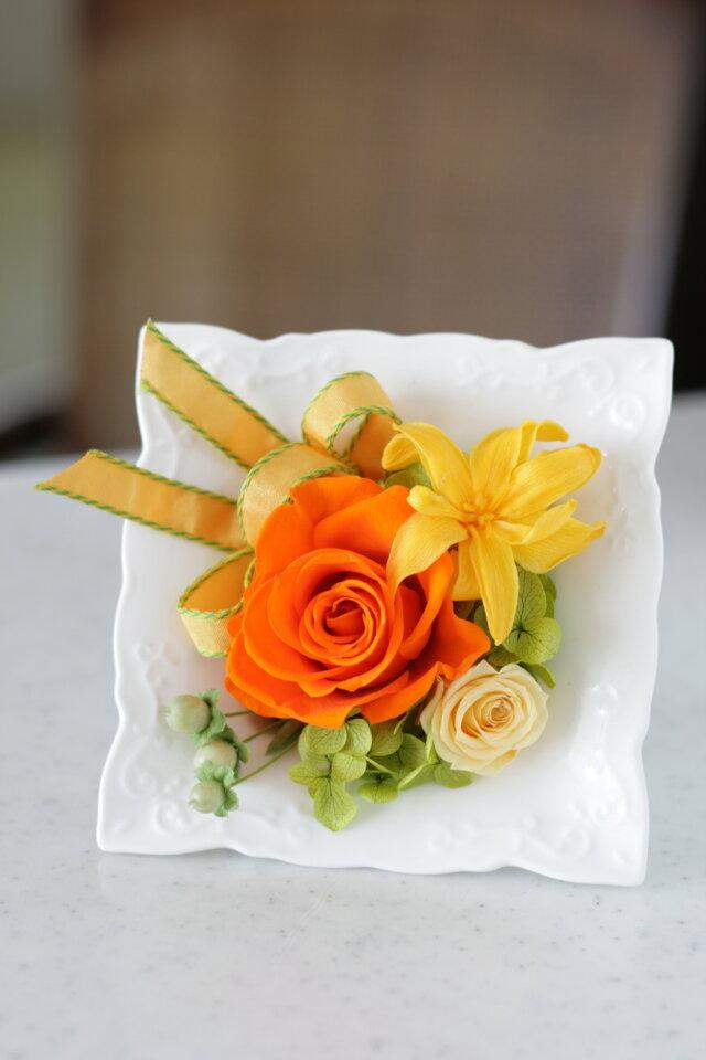 陶器フレーム(オレンジ)の画像1枚目