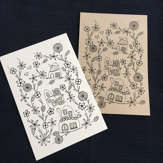 花の街1ポストカードの画像1枚目