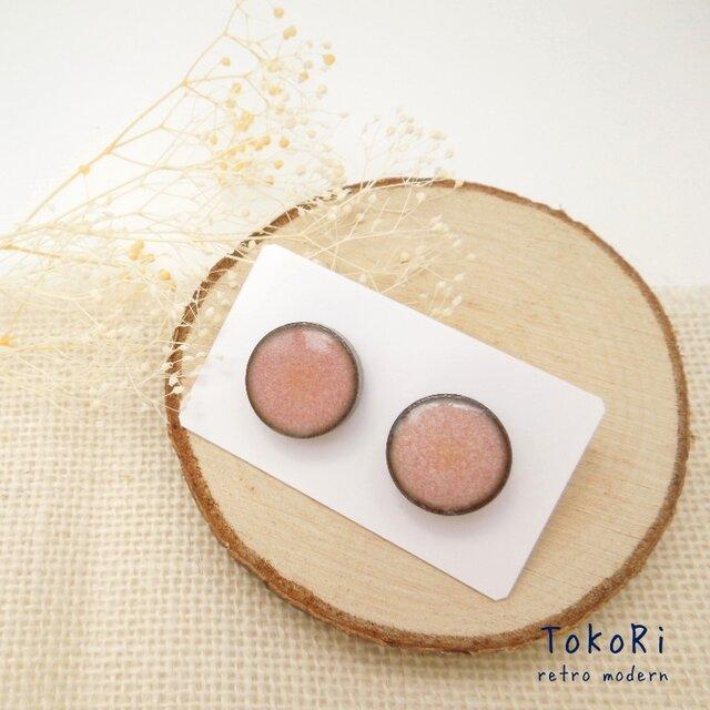 陶器ピアス•イヤリング pinkの画像1枚目