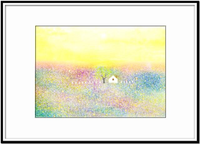 「春の宴」 ほっこり癒しのイラストA4サイズポスターNo.647の画像1枚目