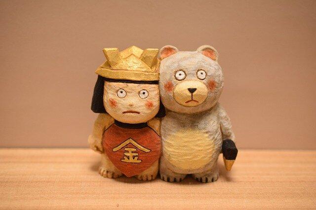 五月人形、金太郎クマの画像1枚目