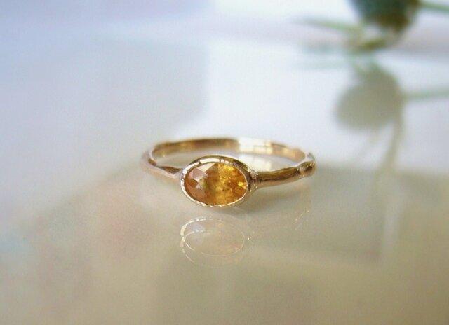 スペッサータイトガーネットとK10の指輪の画像1枚目