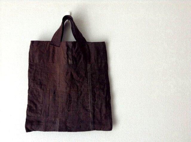 つないでつないで柿渋かばん - 柿渋染めのトートバッグの画像1枚目