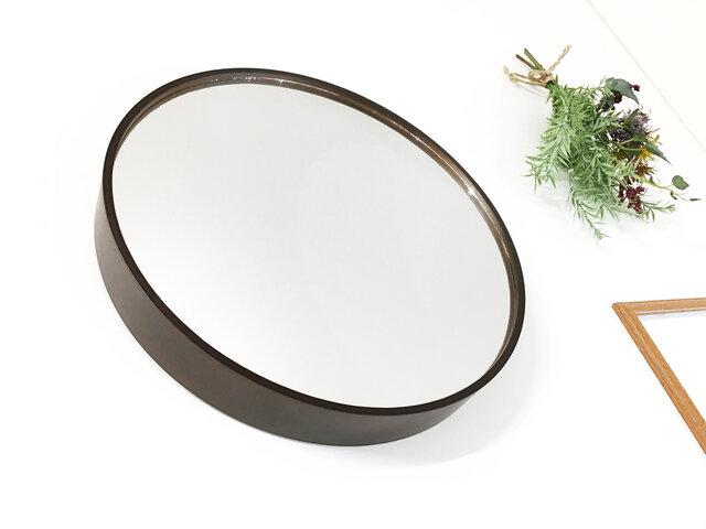 KATOMOKU plywood mirror km-91B ブラウン 鏡の画像1枚目