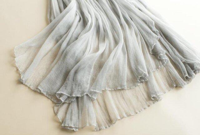【受注製作】美しい100%シルクで・ロングスカートシルク の画像1枚目