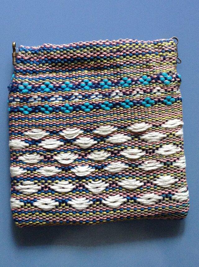 手織り ミニポーチ シルクの画像1枚目