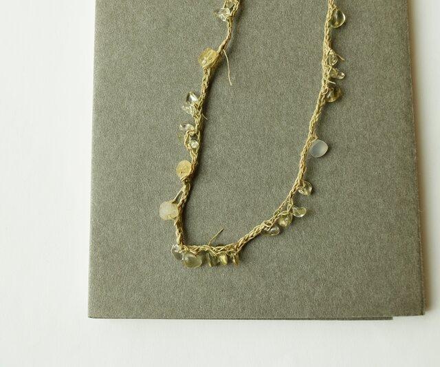 【送料無料】Yellow color necklaceの画像1枚目