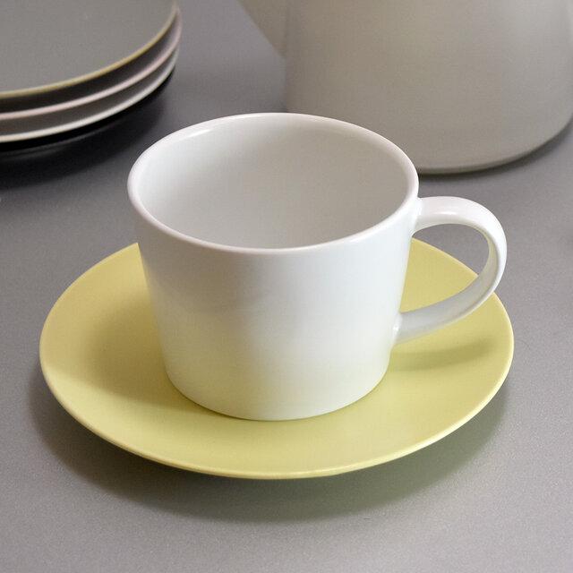 コーヒーカップ、ソーサー 春色 パステルカラー 5色の画像1枚目