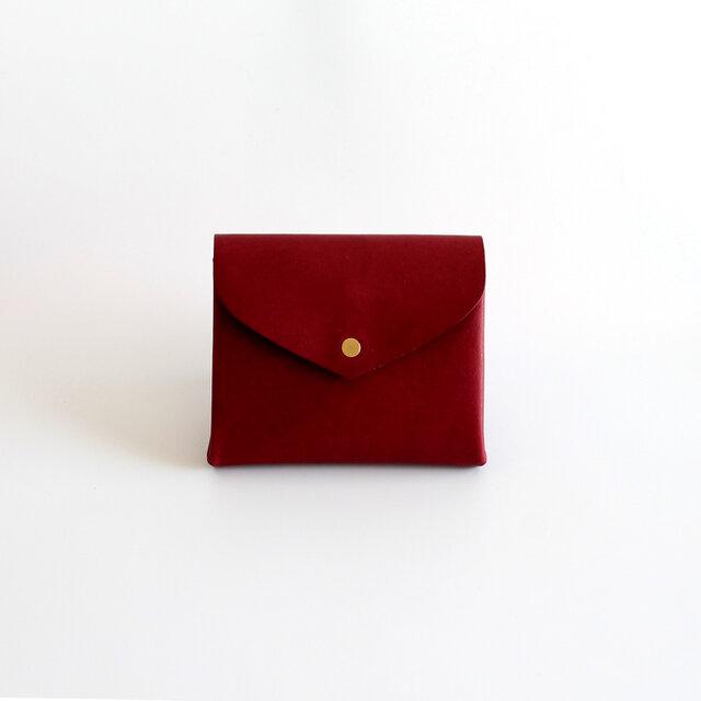 ベーシック ショートウォレット#ワインレッド / basic short wallet #wine redの画像1枚目