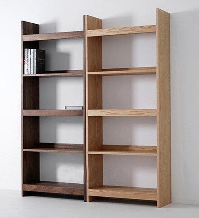 受注生産 職人手作り オープンシェルフ 本棚 収納棚 食器棚 リビング 収納 天然木 北欧家具 サイズオーダー可 木工の画像1枚目