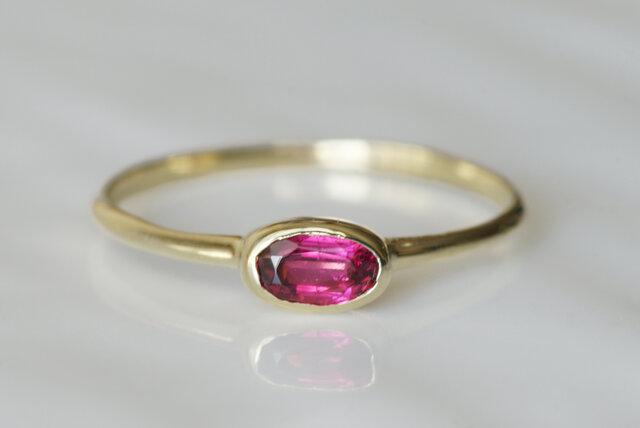 K10製 ルベライトのリングの画像1枚目