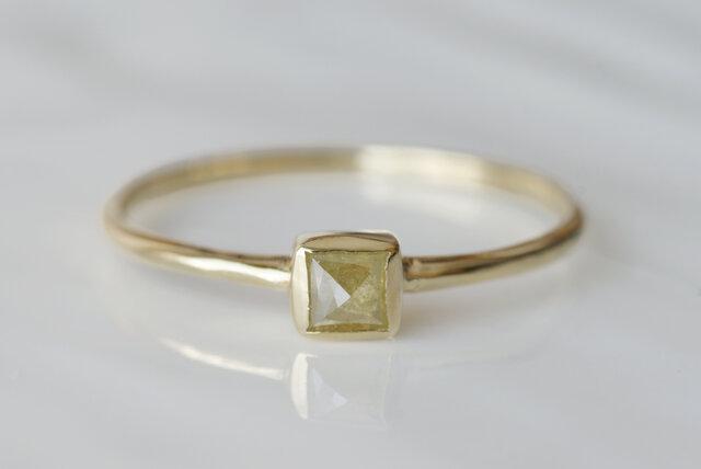K10製 ダイヤモンドのリングの画像1枚目