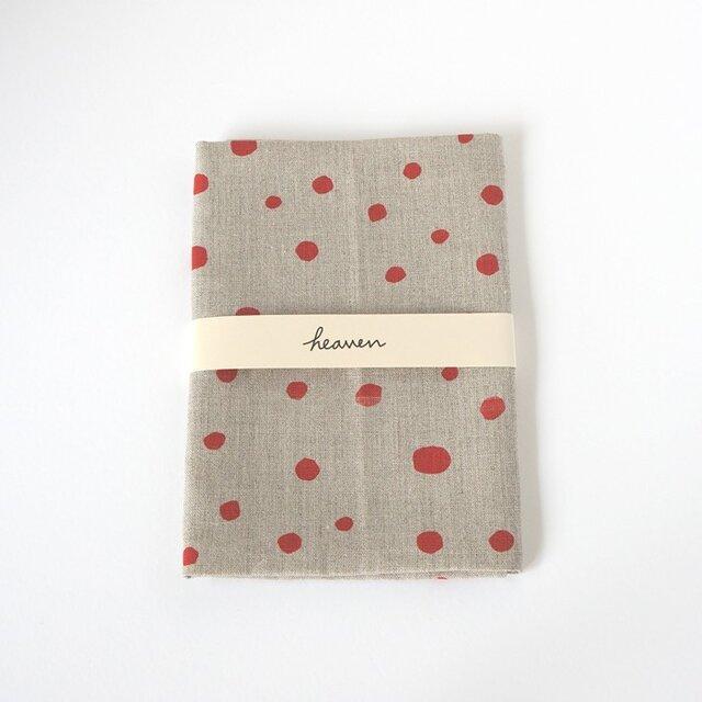 fuwa fuwa dot  ティータオル L(red)の画像1枚目