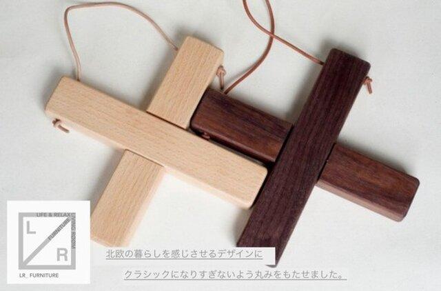 受注生産 職人手作り 鍋敷き 大 シンプル ラッセントレー風 ウォールナット デザイン モダン 北欧風 雑貨 木工 木目の画像1枚目
