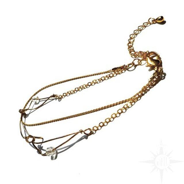 gold chain braceletの画像1枚目