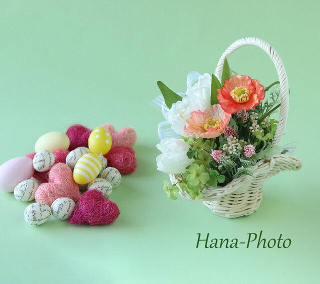 ボンネット型がお洒落な春の野原の花かご (184)の画像1枚目