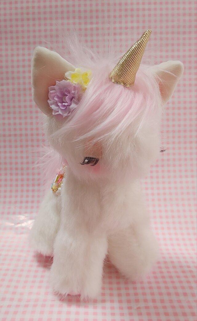 ふわふわぬいぐるみ☆ユニコーン☆ピンクの画像1枚目