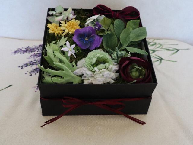 布花のSpring flower box Lの画像1枚目