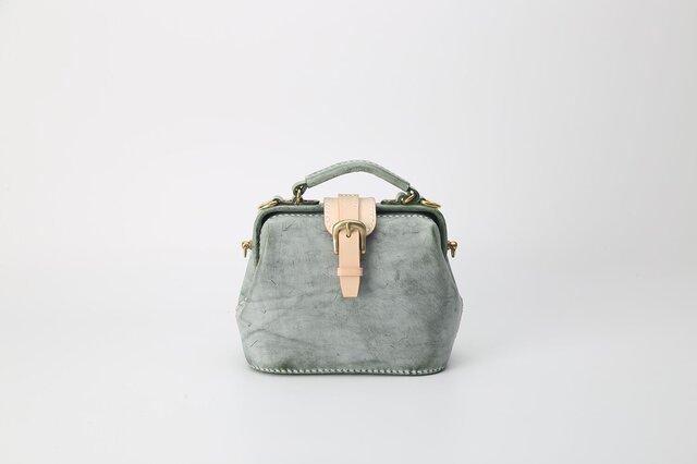 【切線派】がま口 本革手作りのレザーショルダーバッグ 手染め / 総手縫い 手持ち 肩掛け 2WAY 鞄の画像1枚目