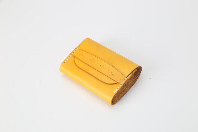 【切線派】牛革手作り手縫い名刺入れ カードケース の画像1枚目