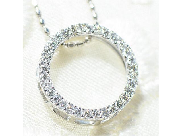 K18 ホワイトダイヤモンド ペンダント トップ K18ホワイトゴールド YK-AO059の画像1枚目