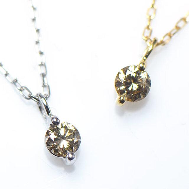 K18 ブラウンダイヤモンド ペンダント  K18イエローゴールド YK-AP031-YGの画像1枚目