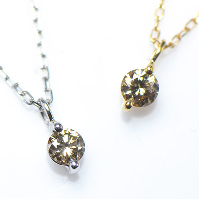 K18 ブラウンダイヤモンド ペンダント  K18ホワイトゴールド YK-AP031-WGの画像1枚目