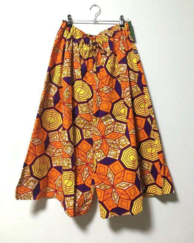 アフリカンバティックフレアパンツの画像1枚目