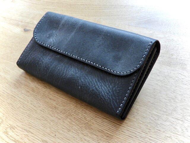 イタリアンレザーの長財布/手縫いの画像1枚目