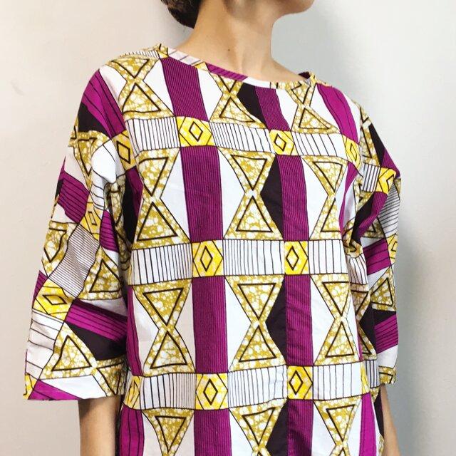 アフリカンバティックのプルオーバーの画像1枚目