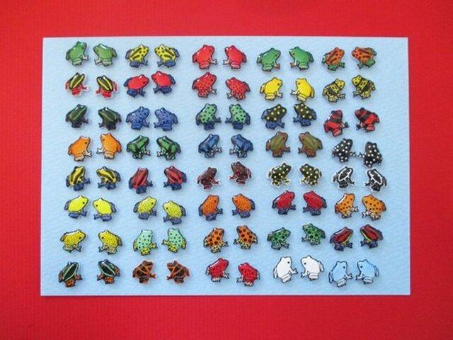 【選べる樹脂ピアス】蛙【1ペア受注製作】の画像1枚目