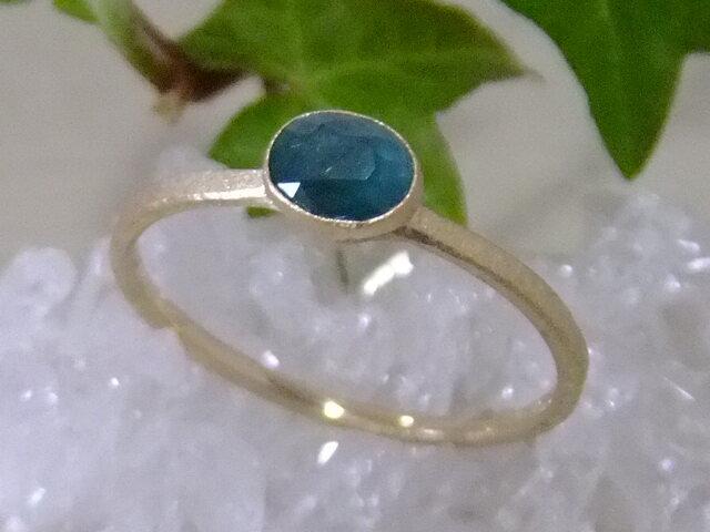 グランディディエライト*K14lunapinkgold ringの画像1枚目