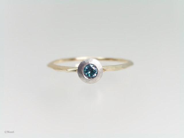 ブルーダイヤモンド ベゼル リング(Iceberg Meteorite Bezel Ring)の画像1枚目