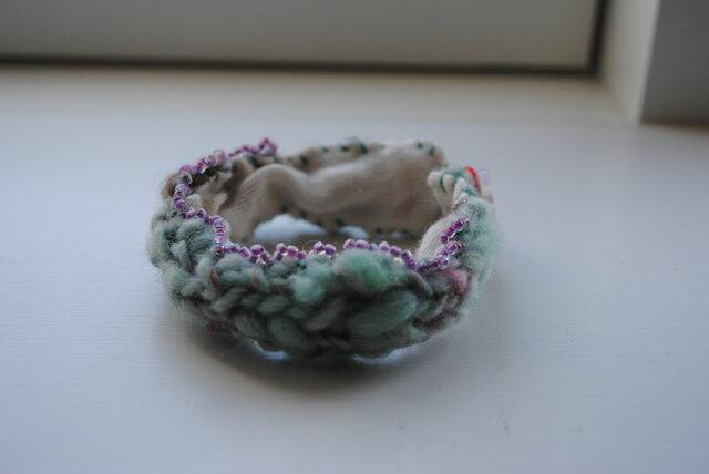 手紡ぎ糸のブレスレット 3の画像1枚目