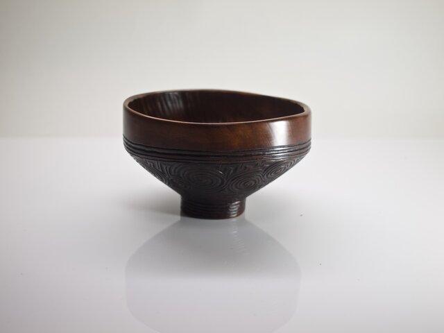 馬盥形茶椀「縄文」の画像1枚目