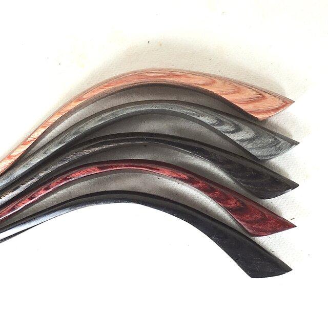 かんざし 積層強化木軸5色からモデルチェンジ、お風呂OKの画像1枚目