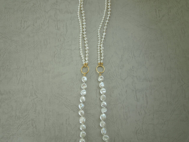 Freshwater Pearl Necklace Ⅰの画像1枚目