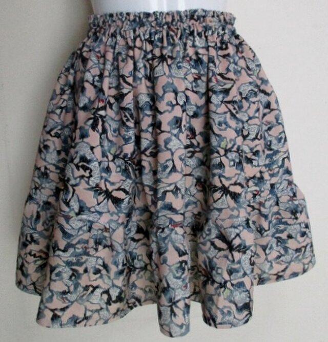 送料無料  花柄の着物で作ったミニスカート 4204の画像1枚目