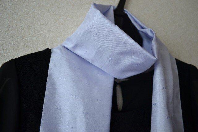 【№11】 薄紫 花織 ストールの画像1枚目